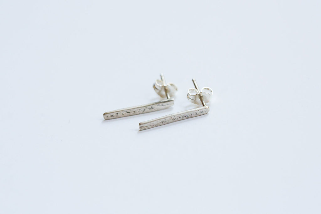 Original Hardware |  Sterling Silver Bar Stud Earrings