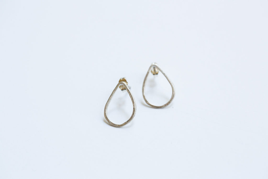 Original Hardware | Sterling Silver Tear Drop Stud Earrings