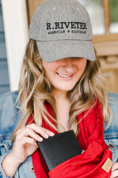R.Riveter + The Home T | Hat Grey R. Riveter American Handmade logo