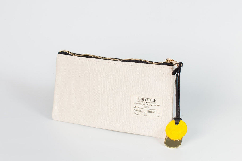 Zipper Pouch | Natural Canvas