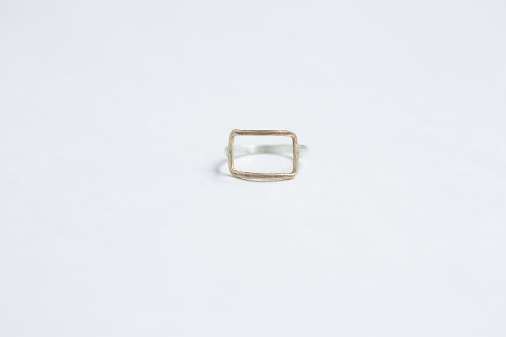 Original Hardware | Yellow Bronze Horizontal Rectangle Ring