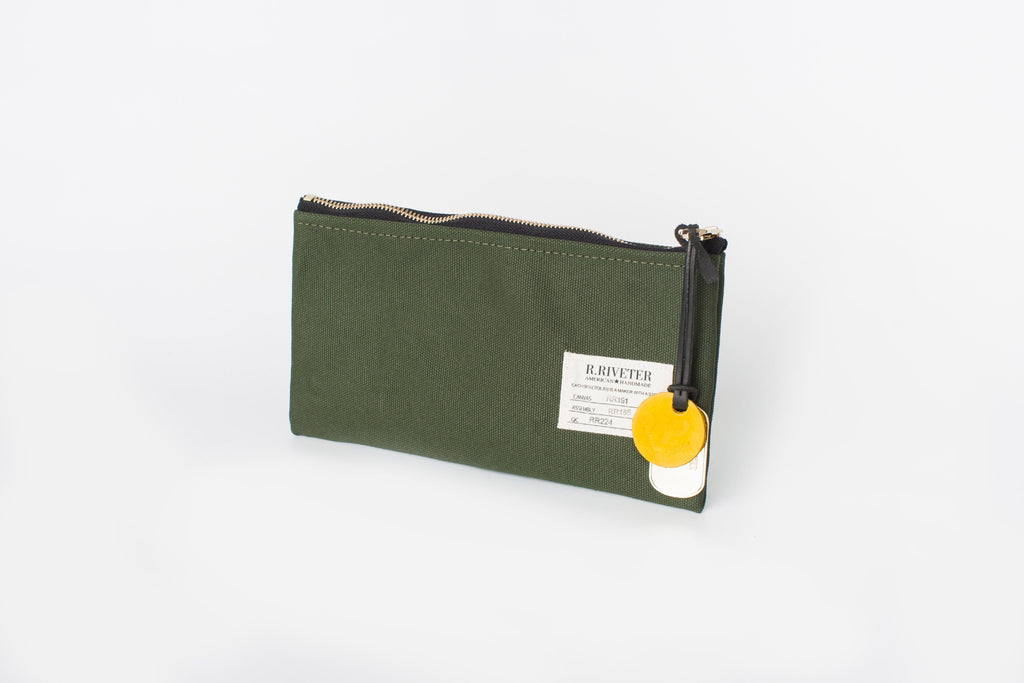 Zipper Pouch | Olive Canvas