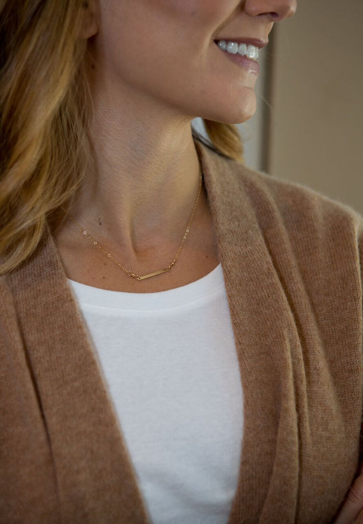 Quinn Sharp Designs | Gold Bar Necklace