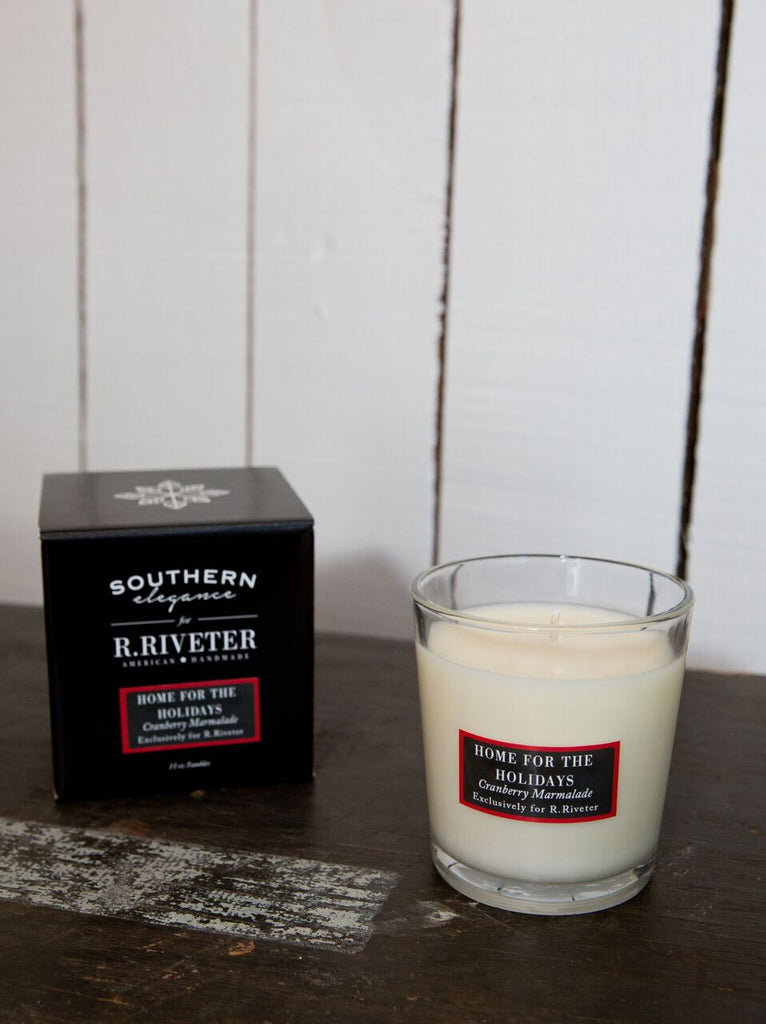 Southern Elegance Candle Company for R. Riveter | Home for the Holidays Candle