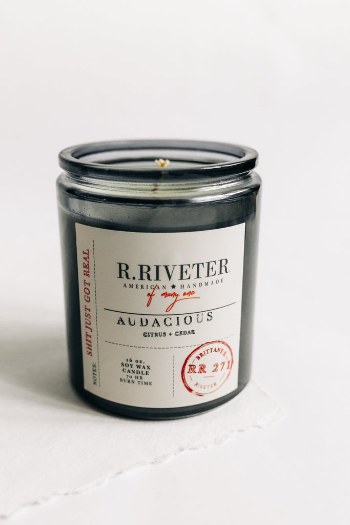 Riveter Made Candle | Audacious