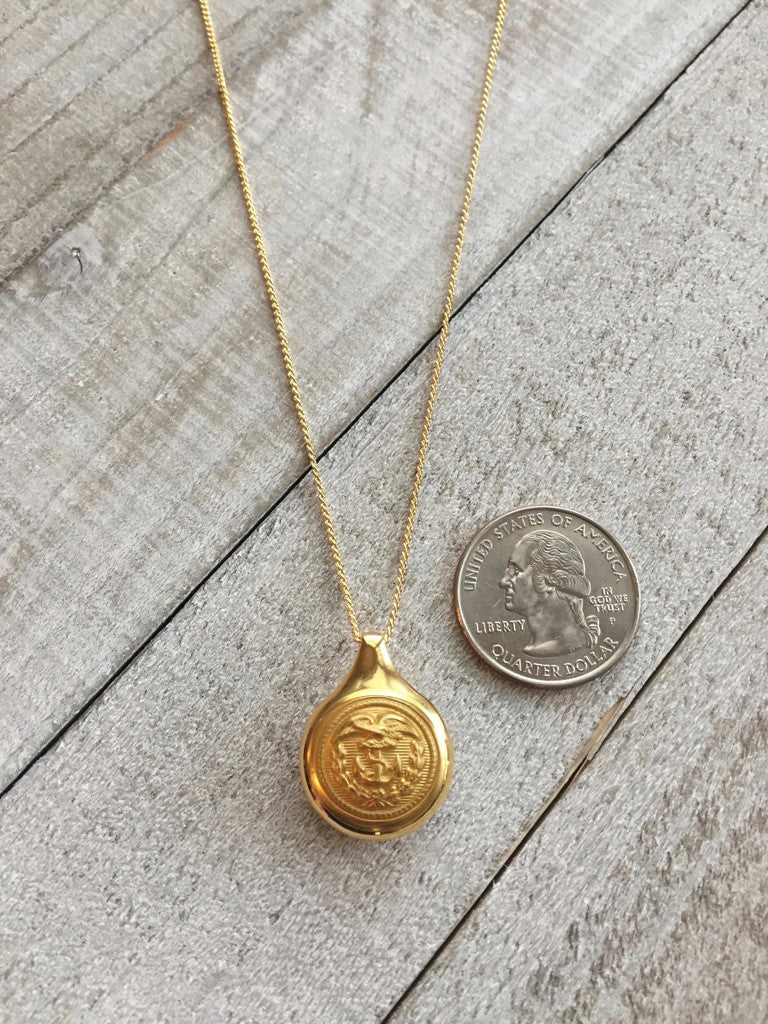 Hope Design Ltd. | Coast Guard Button Necklace