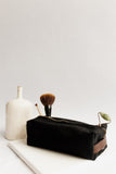 Large Dopp Kit | Signature Black Canvas + Brown Leather Toiletry Bag
