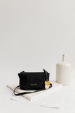 Whittle | Signature Black Canvas + Black Leather Handbag
