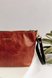 Naomi Leather Zipper Clutch | Tang