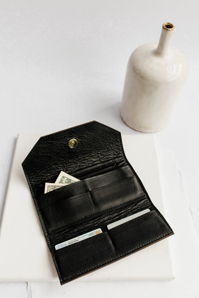 Wallet | Brown + Black Leather