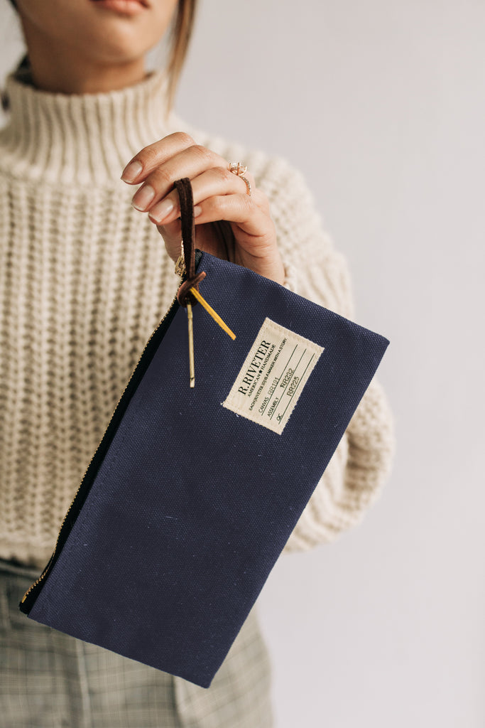 Zipper Pouch | Nautical Navy