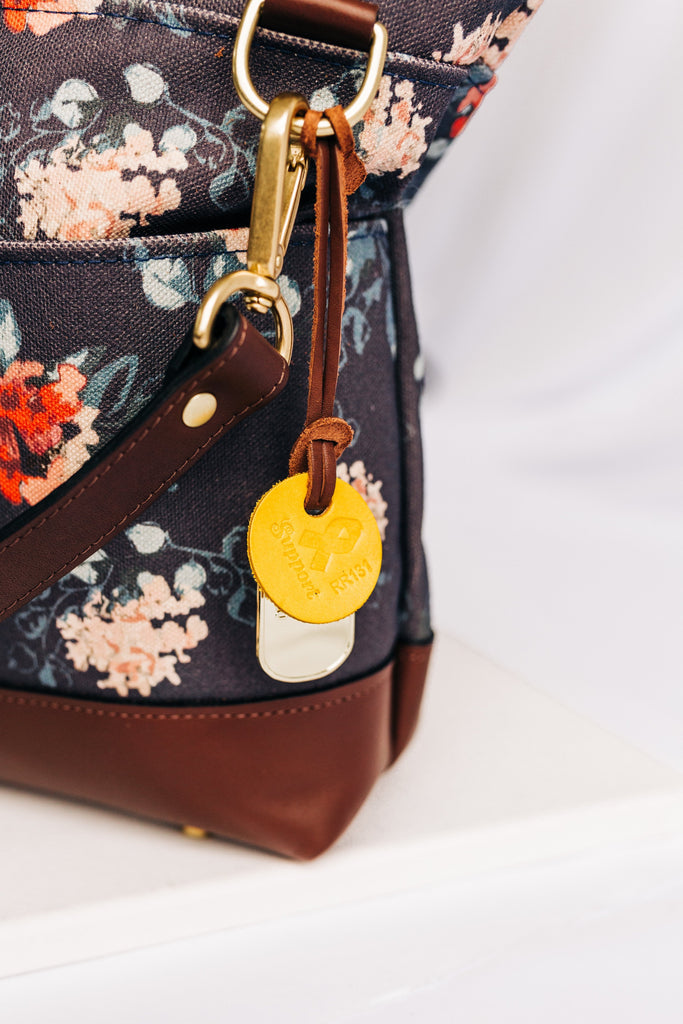 Otto | Special Edition Vintage Botanical Print + Brown Leather Handbag
