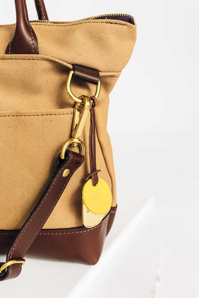 Otto | Harvest Tan Canvas + Brown Leather Handbag