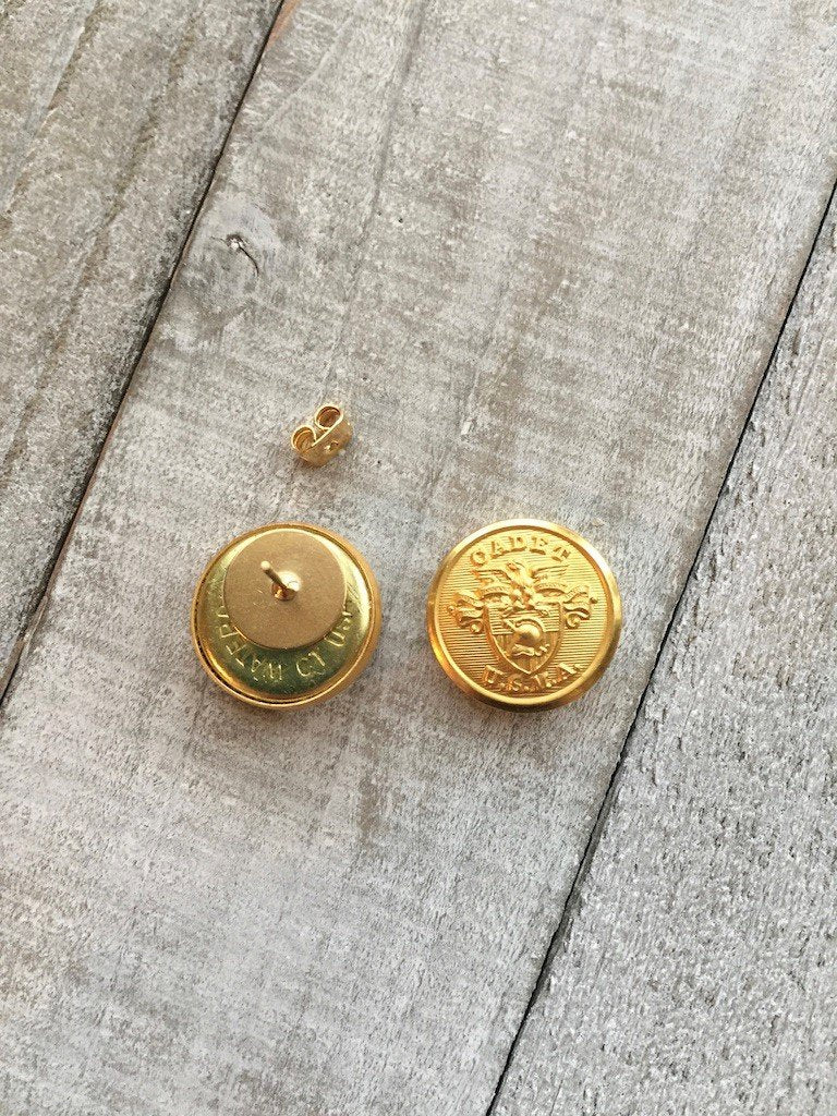 Hope Design Ltd. |  USMA Cadet Button Earrings