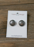 Hope Design Ltd. |  Air Force Button Earrings