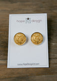 Hope Design Ltd. |  Army Button Earrings