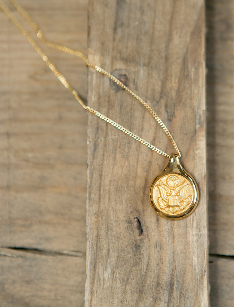 Hope Design Ltd. | Army Button Necklace