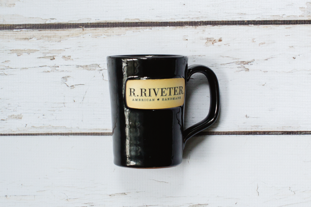 Deneen Pottery | R. Riveter Solid Black Mug