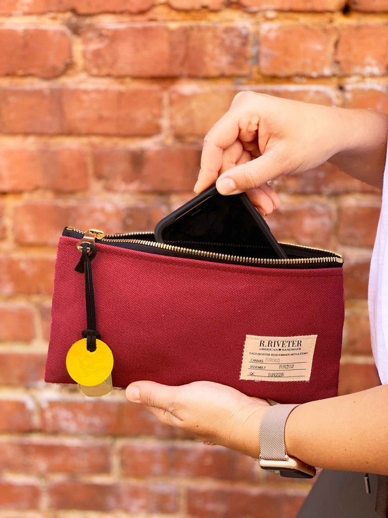 Zipper Pouch | Rosie Red