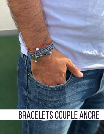 Collection Bracelets Couple Ancre