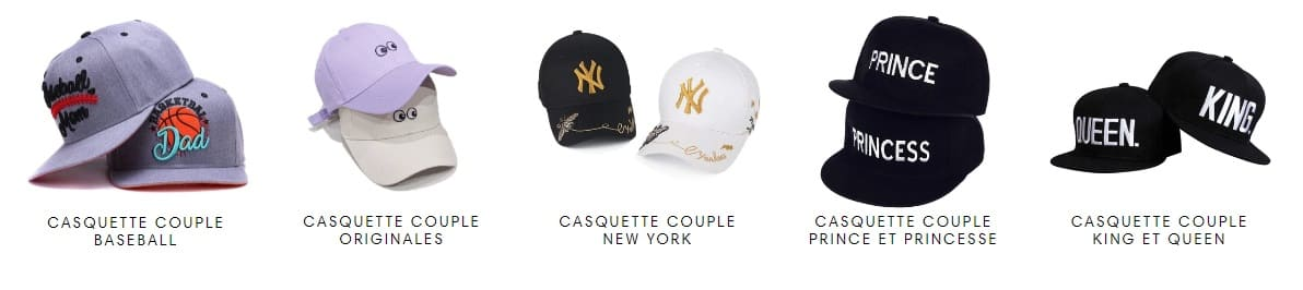 Collection Casquettes Couple Insta-Couple®