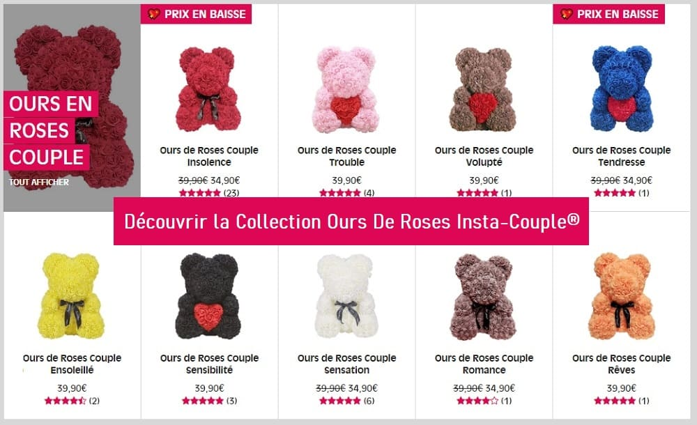 Oursons de Roses Insta-Couple
