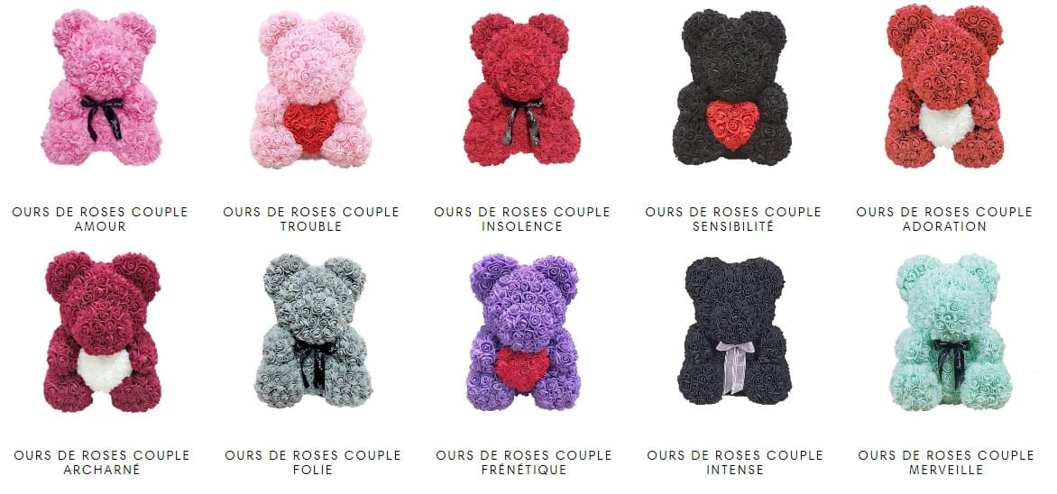 Collection Oursons de Roses Insta-Couple®