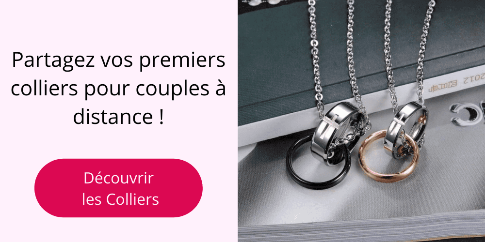 Colliers pour Couple à Distance