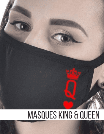 Masque Couple King & Queen Insta-Couple®