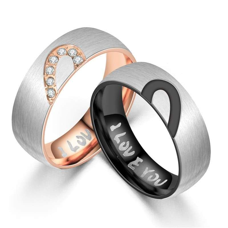 Bague Couple <br/> I Love You