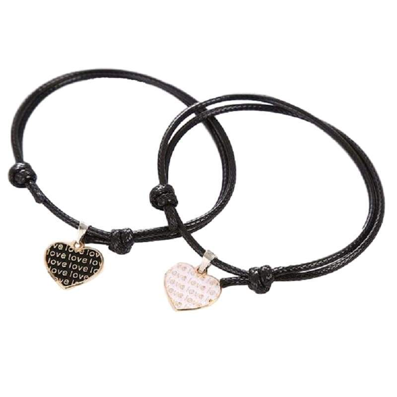 Bracelet Couple <br/> Cœur & Love