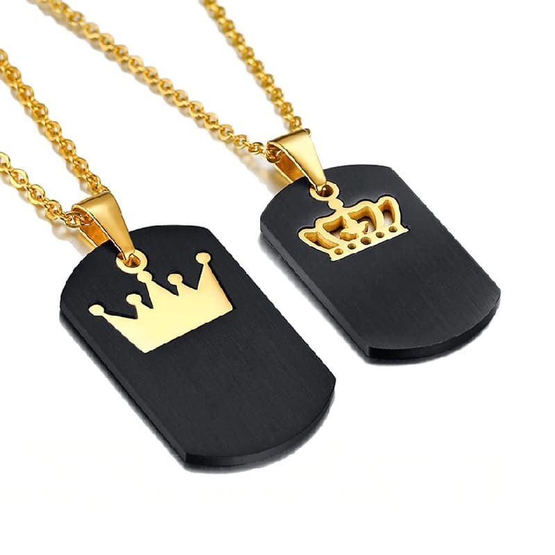 Collier Couple Plaques Royales Insta-Couple®