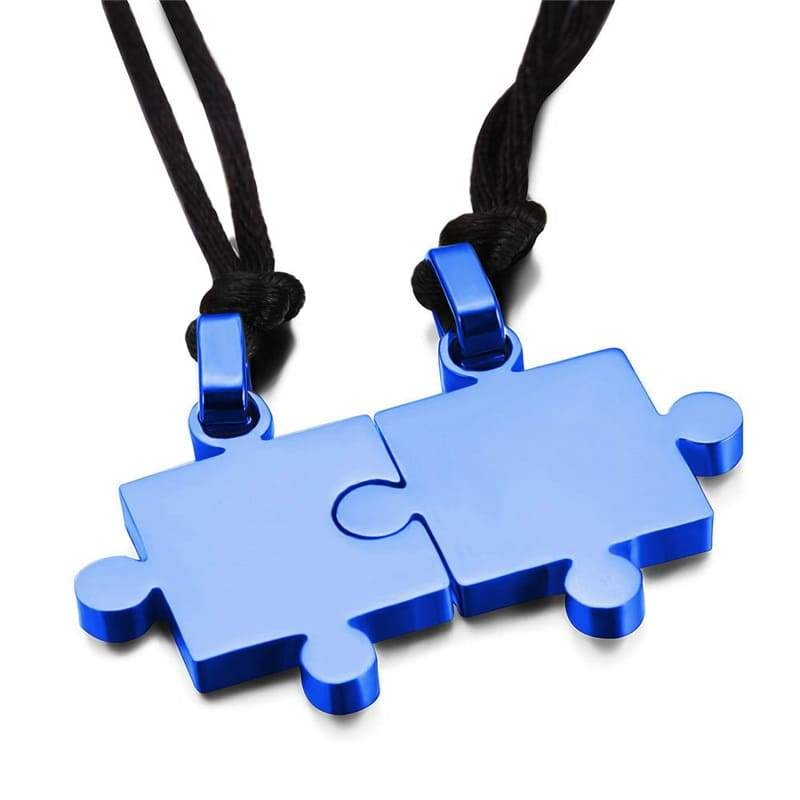 Colliers Couple <br/> Puzzle Bleu