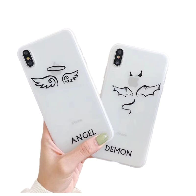 Coque Telephone Couple Ange & Demon Insta-Couple®