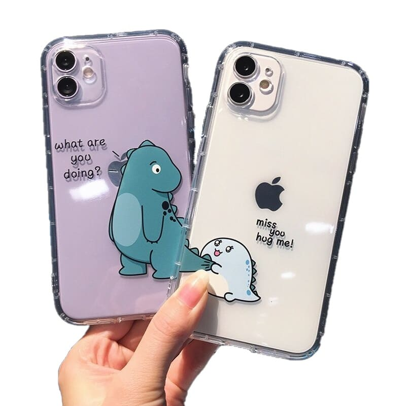 Coque Telephone Couple Dinosaures Insta-Couple®