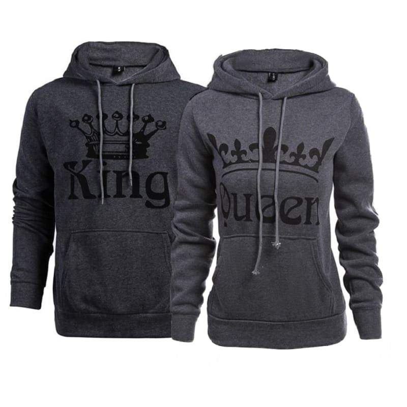 Sweat Couple a Capuche Roi et Reine