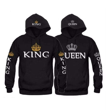 Sweat Shirts Couple King Queen