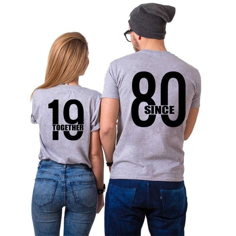 T Shirt Couple 1980