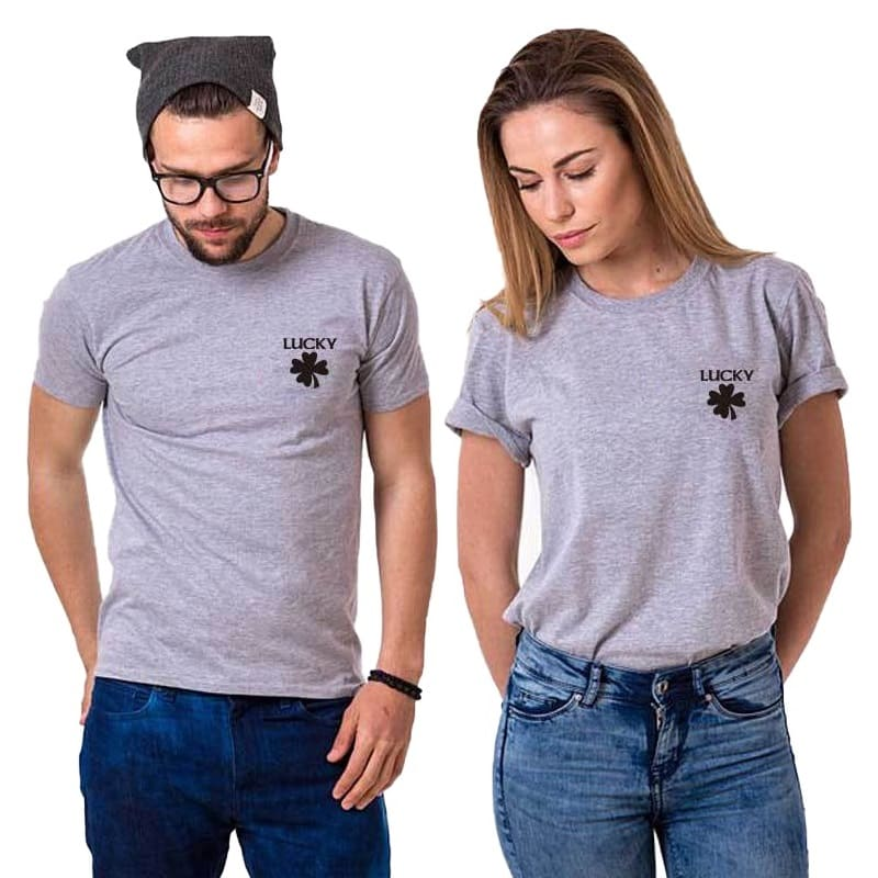 T Shirt Couple Chanceux