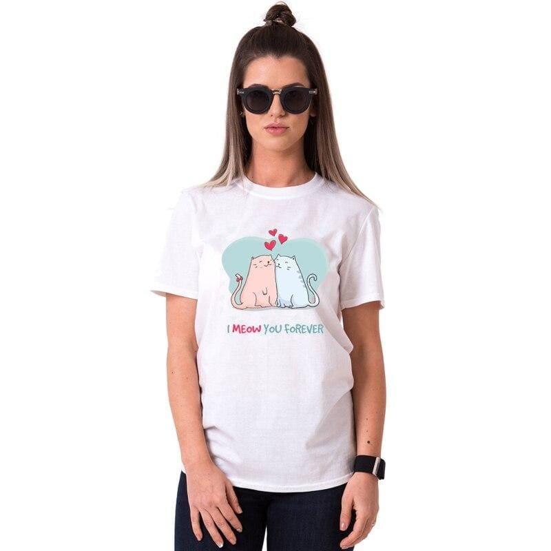 T Shirt Couple Chatte