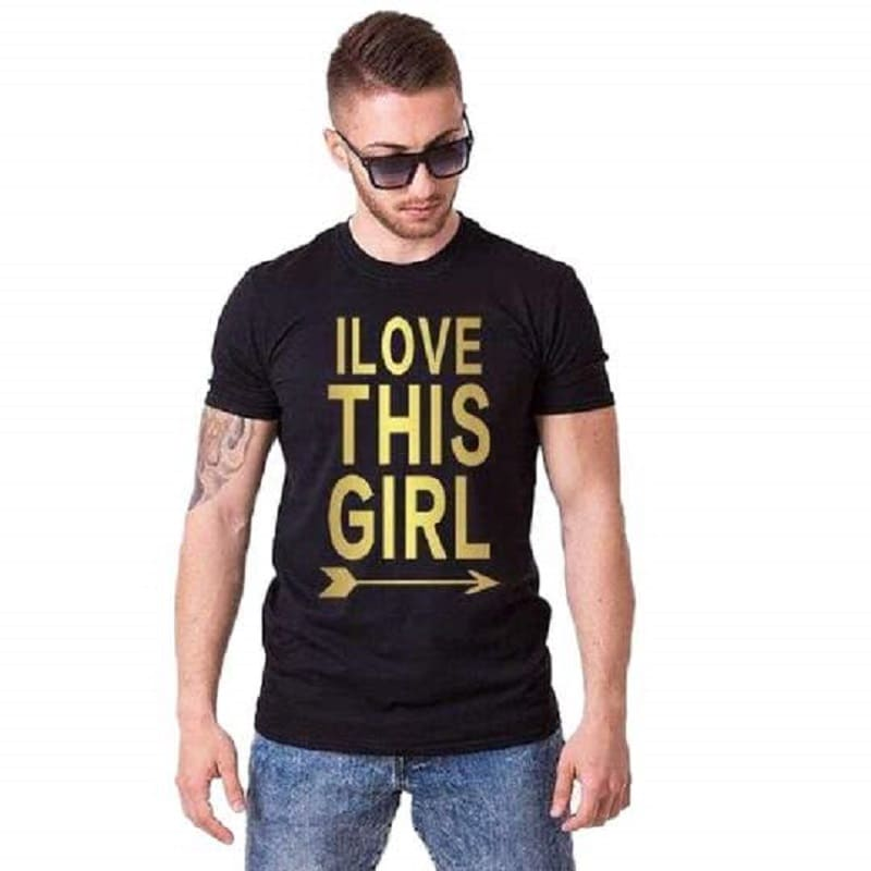 T Shirt Couple My Love Homme