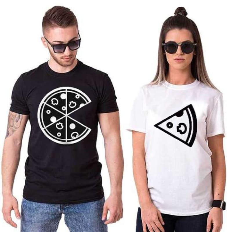 T Shirt Couple <br/> Pizza Party