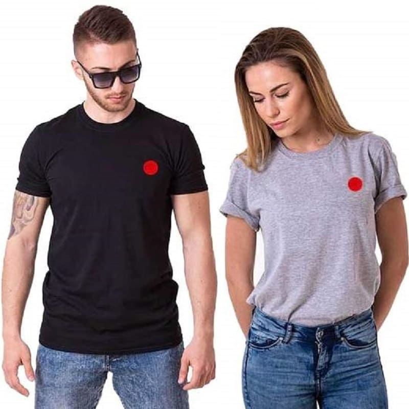 T Shirt Couple Red Point
