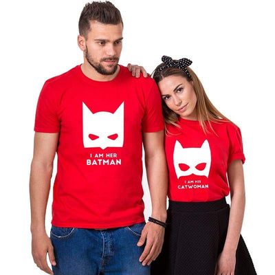 T Shirt Couple Catwoman & Batman Insta Couple la Boutique de tous les Couples