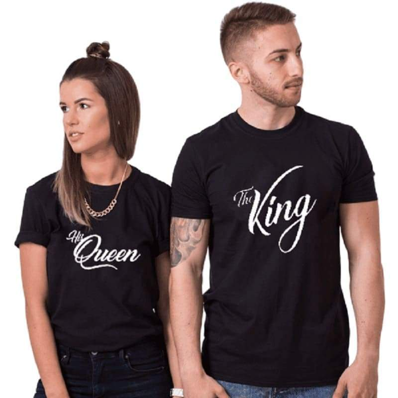 T Shirt Couple The King & The Queen - Insta Couple la Boutique de tous les Couple