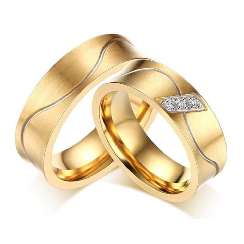 Bague Couple <br/> Vague Amoureuse