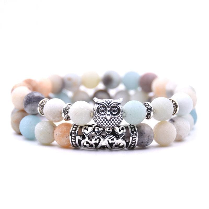 Bracelets Couple Distance Hibou Sauvage