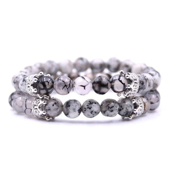 Bracelets Couple Distance Perles Royales