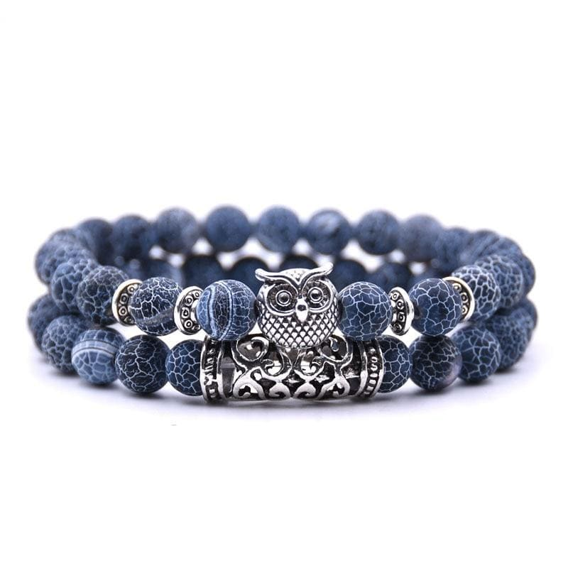 Bracelets Couple Distance Totem du Hibou