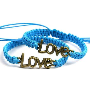 Bracelet Couple Distance Tresse Tendresse